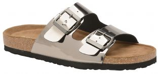 Dunlop Womens Dionne Pewter Open-Toe Sandals
